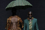 Michael K. Williams walks the runway during Ozwald Boateng Harlem Runway Show at The Apollo Theater on May 05, 2019 in New York City.