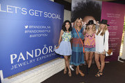 Stephanie Liu, Taye Hansberry, Ashley Fultz and Lindsay Albanese attend the Plenty by Tracy Reese and Nanette Lepore fashion shows at the PANDORA Jewelry Experience #ArtofYou on April 11, 2015 in Palm Springs, California.