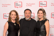 CEO of PEN America Suzanne Nossel, Ai Weiwei and Jennifer Egan attend PEN America 2018 LitFest Gala at the Beverly Wilshire Four Seasons Hotel on November 02, 2018 in Beverly Hills, California.