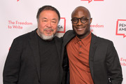 Ai Weiwei and Barry Jenkins attend PEN America 2018 LitFest Gala at the Beverly Wilshire Four Seasons Hotel on November 02, 2018 in Beverly Hills, California.