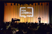 Ai Weiwei speaks onstage during PEN America 2018 LitFest Gala at the Beverly Wilshire Four Seasons Hotel on November 02, 2018 in Beverly Hills, California.