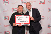 Ai WeiWei (L) and Marvin Putnam attend PEN America 2018 LitFest Gala at the Beverly Wilshire Four Seasons Hotel on November 02, 2018 in Beverly Hills, California.