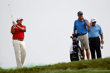 Phil Mickelson Butch Harmon PGA Championship - Preview Day Two