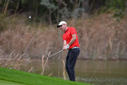 Colm Moriarty of Drive Golf Performance Limitedchips onto the 11th green during the second round of the PGA Play-Offs at Antalya Golf Club - PGA Sultan Course on November 28, 2015 in Antalya, Turkey.