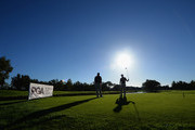 David Higgins of Waterville Golf Links and Colm Moriarty of Drive Golf Performance Limited wait to start on the 1st tee  during the thrd round of the PGA Play Offs at Antalya Golf Club - PGA Sultan Course on November 29, 2015 in Antalya, Turkey.