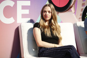 Amanda Seyfried speaks on stage during the POPSUGAR Play/ground at Pier 94 on June 22, 2019 in New York City.
