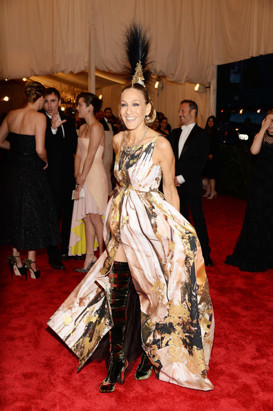 "Actress Sarah Jessica Parker attends the Costume Institute Gala for the ""PUNK: Chaos to Couture"" exhibition at the Metropolitan Museum of Art on May 6, 2013 in New York City."
