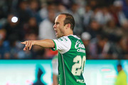 Landon Donovan of Leon gestures during the 9th round match between Pachuca and Leon as part of the Torneo Clausura 2018 Liga MX at Hidalgo Stadium on February 24, 2018 in Pachuca, Mexico.