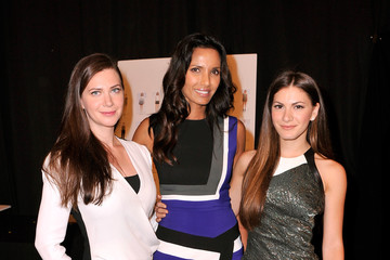 Padma Lakshmi J. Mendel - Backstage - Mercedes-Benz Fashion Week Spring 2015