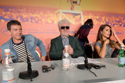 "(L-R) Antonio Banderas, Pedro Almodovar and Penelope Cruz during the ""Pain And Glory (Dolor Y Gloria/ Douleur Et Glorie)"" Press Conference during the 72nd annual Cannes Film Festival on May 18, 2019 in Cannes, France."