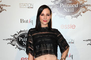 Heather McComb arrives at The Painted Nail Flagship Store Launch at the W Hollywood on October 23, 2014 in Hollywood, California.