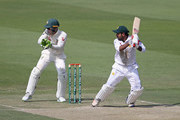 Sarfraz Ahmed of Pakistan bats during day one of the Second Test match between Australia and Pakistan at Sheikh Zayed stadium on October 16, 2018 in Abu Dhabi, United Arab Emirates.