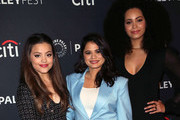 """(L-R) Sarah Jeffery, Melonie Diaz and Madeleine Mantock from """"Charmed"""" attend The Paley Center for Media's 2018 PaleyFest Fall TV Previews - The CW at The Paley Center for Media on September 8, 2018 in Beverly Hills, California."""