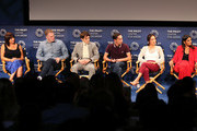 "(L-R) Mary Rohlich, Michael Rapaport, Brigette Lundy-Paine, Keir Gilchrist, Amy Okuda and Robia Rashid from Netflix's ""Atypical"" appear on stage at The Paley Center for Media's 2018 PaleyFest Fall TV Previews - Netflix at The Paley Center for Media on September 6, 2018 in Beverly Hills, California."