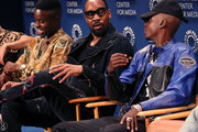 "(L-R) Johnell Young, RZA and Ashton Sanders of ""Wu-Tang: An American Saga"" speak on stage at The Paley Center for Media's 2019 PaleyFest Fall TV Previews - Hulu  at The Paley Center for Media on September 10, 2019 in Beverly Hills, California."