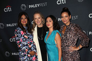 Angelique Cabral, Rosa Salazar and Constance Marie of 'Undone' and Jennifer Salke (2nd from L) attend The Paley Center for Media's 2019 PaleyFest Fall TV Previews - Amazon at The Paley Center for Media on September 06, 2019 in Beverly Hills, California.