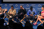 "(L-R) Alex Tse, Johnell Young, RZA, Ashton Sanders and  Zolee Griggs of ""Wu-Tang: An American Saga"" speak on stage at The Paley Center for Media's 2019 PaleyFest Fall TV Previews - Hulu  at The Paley Center for Media on September 10, 2019 in Beverly Hills, California."