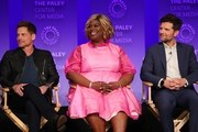 """Rob Lowe, Retta and Adam Scott attend the Paley Center For Media's 2019 PaleyFest LA  """"Parks And Recreation"""" 10th Anniversary Reunion held at the Dolby Theater on March 21, 2019 in Los Angeles, California."""