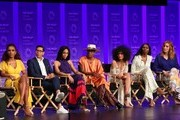 "Janet Mock, Steven Canals, MJ Rodriguez, Billy Porter, Indya Moore, Dominique Jackson and Our Lady J attend the Paley Center For Media's 2019 PaleyFest LA - ""Pose"" held at the Dolby Theater on March 23, 2019 in Los Angeles, California."