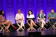 "Aisha Tyler, RuPaul Charles, Michelle Visage, Carson Kressley and Ross Matthews attend the Paley Center For Media's 2019 PaleyFest LA - ""RuPaul's Drag Race"" held at the Dolby Theater on March 17, 2019 in Los Angeles, California."