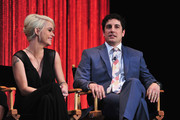 """Actress Taryn Manning and Jason Biggs on stage at The Paley Center For Media's PaleyFest 2014 Honoring """"Orange Is The New Black"""" at Dolby Theatre on March 14, 2014 in Hollywood, California."""