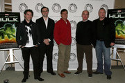 """From L to R : Actor Rick D. Wasserman, Supervising producer Joshua Fine, Screenwriter Greg Johnson, Comic book legend Jeph Loeb and Supervising director Frank Paur arrive at the Paley Center for Media's Premiere of """"Planet Hulk"""" on January 14, 2010 in Beverly Hills, California."""