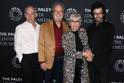 """(L-R) Eliot Feld, Russ Tamblyn, Rita Moreno and George Chakiris attend """"Words On Dance: Jerome Robbins and West Side Story"""" presented by The Paley Center for Media at The Paley Center for Media on October 11, 2018 in Beverly Hills, California."""