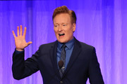 Conan O'Brien appears on stage at The Paley Honors: A Special Tribute To Television's Comedy Legends at the Beverly Wilshire Four Seasons Hotel on November 21, 2019 in Beverly Hills, California.