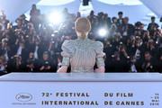 """Emily Beecham, winner of the Best Actress award for her role in """"Little Joe"""", poses at thewinner photocall during the 72nd annual Cannes Film Festival on May 25, 2019 in Cannes, France."""