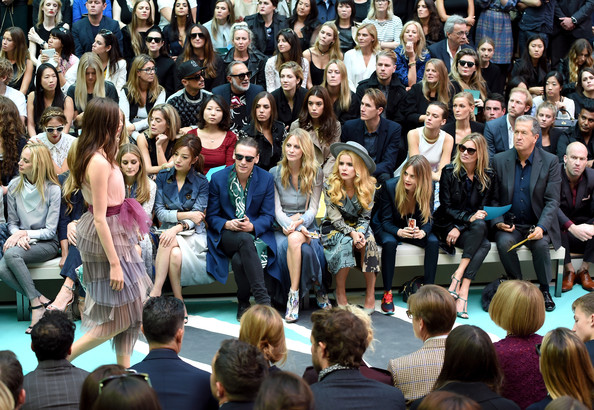 Front Row at Burberry