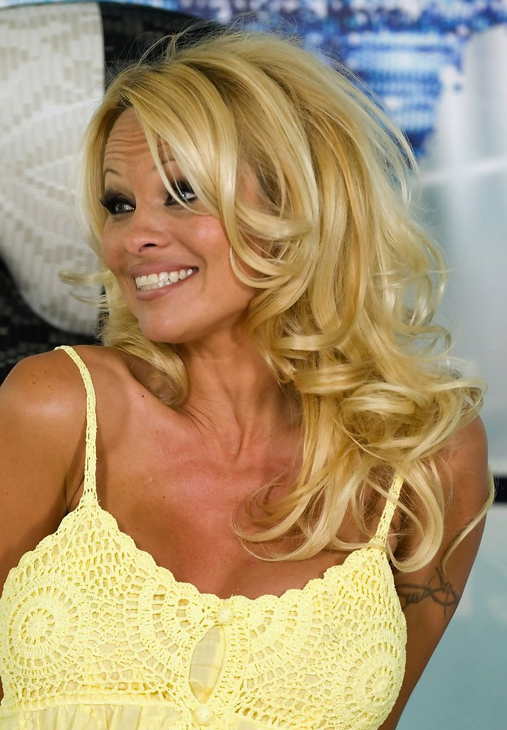 pamela anderson press conference ahead of big brother appearance zimbio. Black Bedroom Furniture Sets. Home Design Ideas