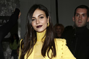 Actress Victoria Justice is seen during the Pamella Roland fashion show during New York Fashion Week at Pier 59 on February 07, 2019 in New York City.