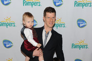 Rylan Jaxson, Eric Mabius and Maxfield Eliot attend the Pampers Dry Max launch party at Helen Mills Theater on March 18, 2010 in New York City.