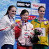 Emma McKeon Photos - (L to R) Silver medalist Kelsi Dahlia of the United States, gold medlist Rikako Ikee of Japan and bronze medalist Emma McKeon of Australia celebrate on the podium at the medal ceremony for the Women's 100m Butterfly Final on day three of the Pan Pacific Swimming Championships at Tokyo Tatsumi International Swimming Center on August 11, 2018 in Tokyo, Japan. - Pan Pacific Swimming Championships - Day 3
