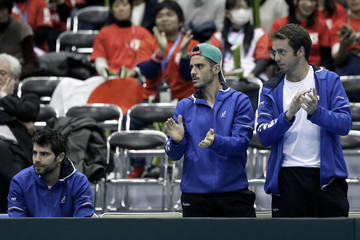 Paolo Lorenzi Japan v Italy - Davis Cup World Group 1st Round - Day 3