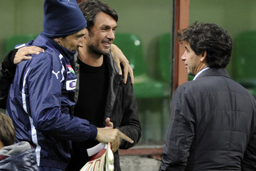 Paolo Maldini Gianluigi Buffon Italy Training Session & Press Conference