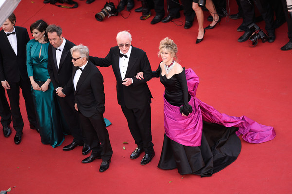 'Youth' Premiere - The 68th Annual Cannes Film Festival [red carpet,carpet,event,flooring,premiere,formal wear,suit,l-r,youth premiere - the 68th annual cannes film festival,premiere,cannes film festival,paolo sorrentino,actors,jane fonda,harvey keitel,micheal caine,rachel weisz]