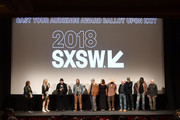 """Daryl Hannah, Neil Young, and cast and crew of Paradox attend the """"Paradox"""" Premiere 2018 SXSW Conference and Festivals at Paramount Theatre on March 15, 2018 in Austin, Texas."""