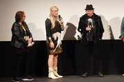 """SXSW Film Festival Director Janet Pierson, Daryl Hannah, and Neil Young attend the """"Paradox"""" Premiere 2018 SXSW Conference and Festivals at Paramount Theatre on March 15, 2018 in Austin, Texas."""