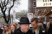 """Neil Young attends the """"Paradox"""" red carpet premiere at Paramount Theatre during SXSW 2018 on March 15, 2018 in Austin, Texas."""