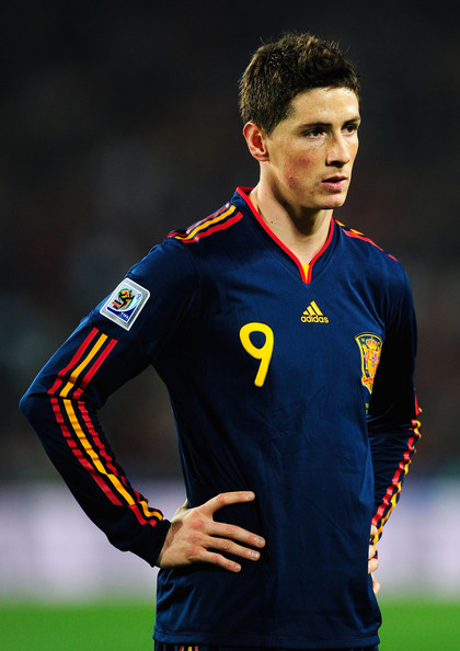 Fernando Torres of Spain looks on during the 2010 FIFA World Cup South Africa Quarter Final match between Paraguay and Spain at Ellis Park Stadium on July 3, 2010 in Johannesburg, South Africa.