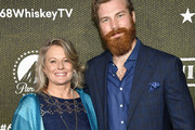 """(L-R) Kathy Jarvis and Derek Theler attend Paramount Network's """"68 Whiskey"""" Premiere Party at Sunset Tower on January 14, 2020 in Los Angeles, California."""