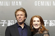 "(from left) Jerry Bruckheimer and Linda Bruckheimer attend the Paramount Pictures ""Gemini Man"" Taipei Premiere at Miramar Da-Zhi Cinema on October 21, 2019 in Taipei, Taiwan."