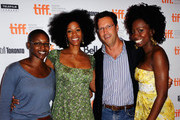 "Producer Nekisa Cooper, actress Kim Wayans, Focus Features' Andrew Karpen and actress Adepero Oduye attend ""Pariah"" Premiere at TIFF Bell Lightbox during the 2011 Toronto International Film Festival on September 12, 2011 in Toronto, Canada."