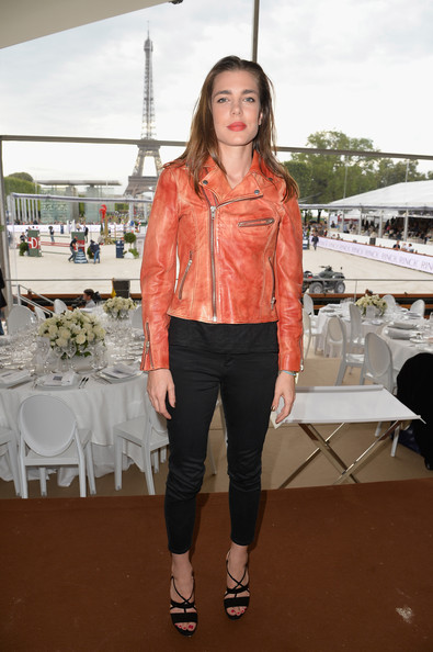 Charlotte Casiraghi attends the Paris Eiffel Jumping presented by Gucci at Champ-de-Mars on July 5, 2014 in Paris, France.