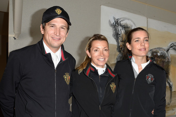 (L-R) Guillaume Canet, Edwina Tops-Alexander and Charlotte Casiragh iattend the Paris Eiffel Jumping presented by Gucci at Champ-de-Mars on July 5, 2014 in Paris, France.