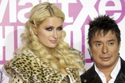 Paris Hilton (L) and Nano Barea (R) attend Supermartxe VIP Party at Fabrik on December 18, 2010 in Madrid, Spain.