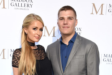 Paris Hilton Chris Zylka The VIP Opening Of Maddox Gallery With Inaugural Exhibition 'Best Of British'
