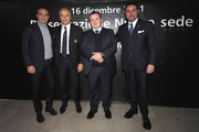 (L to R) Cesare Prandelli coach of Italy, Parma FC coach Franco Colomba, Parma FC president Tommaso Ghirardi and Parma FC CEO Pietro Leonardi attend the new club headquarters unveiling ceremony  on December 16, 2011 in Collecchio, Italy.