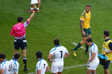 Pascal Gauzere Australia v Uruguay - Group A: Rugby World Cup 2015